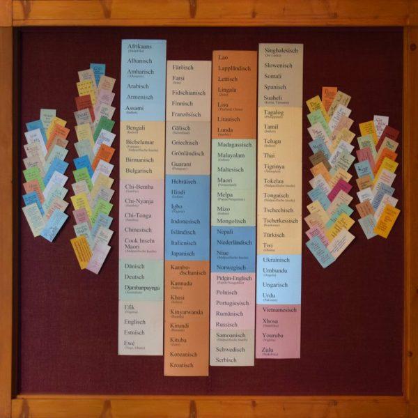 Kanaan-Zentren, Literatur in vielen Sprachen